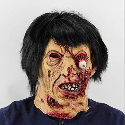 WEYQ Halloween Thriller Maske Walking Dead Vollkopf Maske Resident Evil Monster Zombie Kostüm Party Latex für Halloween Horror Vampire Scared Ghost - Thriller Zombie Kostüm Bilder