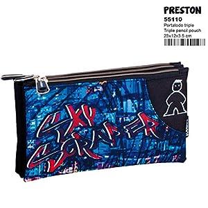 Montichelvo Campro Preston – Estuche portatodo Triple (Perona 55110)