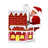 InnerSetting Weihnachtsmann, elektrisch, schönes Spielzeug zum Klettern an der Wand Kamin, Musik, Tanzende Puppe, Kinder