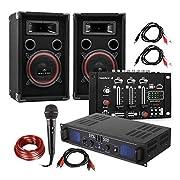 Dati tecnici:Amplificatore DJ/PA• collegamenti: 1 x ingresso jack da 3,5 mm (lato frontale), 2 xuscite stereo con morsetti a vite, 3 x ingressi stereo RCA• volume regolabile per canale• maniglie frontali• accensione frontale• SNR: > 82 db•...