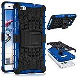 ONEFLOW Huawei P8 Lite 2015 | Hülle Silikon Hard-Case Blau Outdoor Back-Cover Extrem Stoßfest Schutzhülle Grip Handyhülle für Huawei P8 Lite 2015 Case Rückseite Tasche