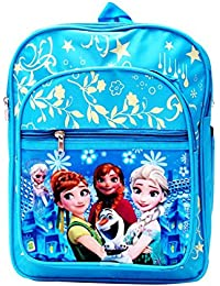 AAON 4L Colour Printed Characters School Backpack For Kids (Sky Blue)