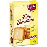 Dr. Schar Fette Biscottate Tostadas Pan - 250 gr - [Pack de 4]