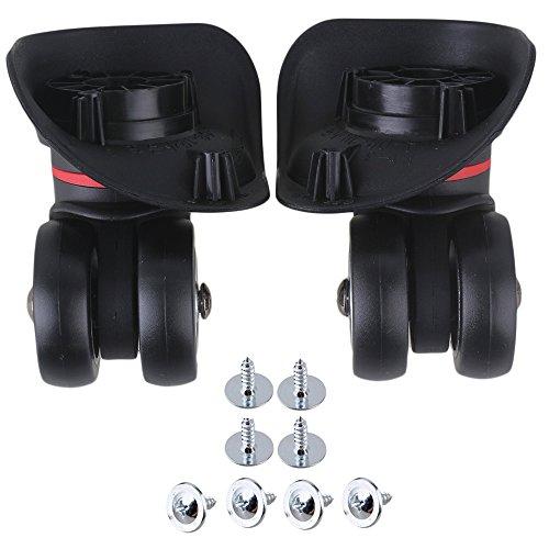 Yibuy 2x schwarz 10x 9,8x 4,9cm Kunststoff DIY Gepäck Rollen Ersatz - 20 Rollen Koffer