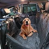 IDEAPRO Wasserdichte Hunde Autoschondecke mit Seitenschutz und Reißverschlüsse 4 Schicht Verdickung Rutschfest Hundedecke Auto