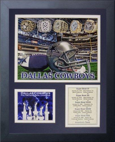 leyendas-nunca-mueren-dallas-cowboys-super-bowl-anillos-foto-enmarcada-collage-11-x-14
