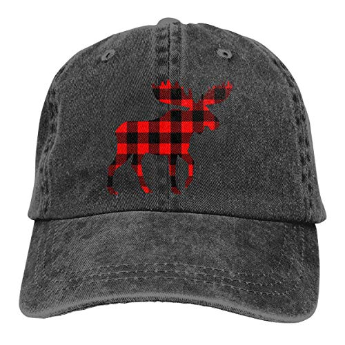 cvbnch Cowboy-Hut Sonnenkappen Sport Hut Buffalo Plaid Moose Men's Women's Adjustable Jeans Baseball Hat Denim Fabric Trucker Hat Sports Cool Youth Golf Ball Unisex Hiking Cowboy hat hip hop -