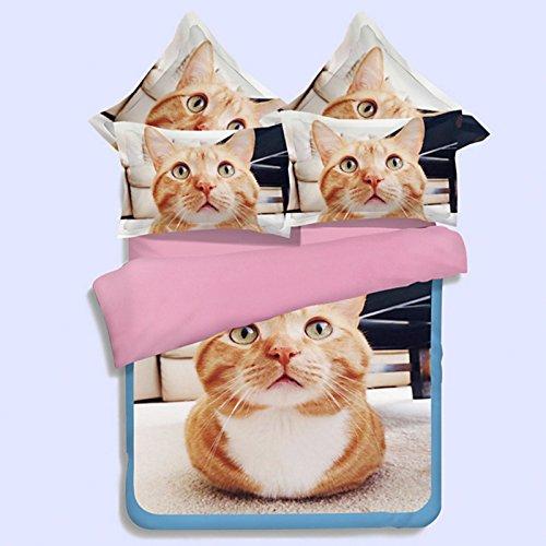 lkklily-three/Vier-teiliges Bettwäsche Schleifen reduziert 3D Single Bett Dekoration Quilt Sets 3/4drei-teiliges Set enthält nicht dick Schleifblätter, 07 Sheets, 1.8m 4pc (ägyptische 3d-puzzle)