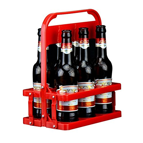 Passform in everyway Faltbare 6er Pack Bier Flasche Caddy Eimer Halterung für den täglichen Gebrauch und Party