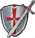 Kinder Ritter-Rüstung Schild & Ritter-Schwert aus Schaumstoff, weich und flexibel Ritter-Kostüm Verkleidung Fasching Karneval Mittelalter