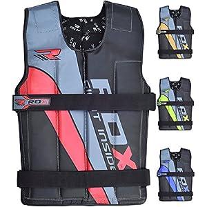 RDX Gym Gewichtsweste Laufweste Gewicht Krafttraining Fitness Trainingsweste Joggen Weste (MEHRWEG)