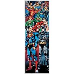 Justice League Póster para la Puerta con Marco (Plástico) - DC Comics Superheroes (158 x 53cm)