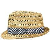 Stetson Cappello Vented Trilby Wheat Donna/Uomo | Cappelli da Spiaggia Estivo con Nastro in Grosgrain Primavera/Estate | L (58-59 cm) Natura