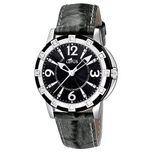Reloj analógico Lotus 15745/4 de cuarzo para mujer con correa de piel, color negro
