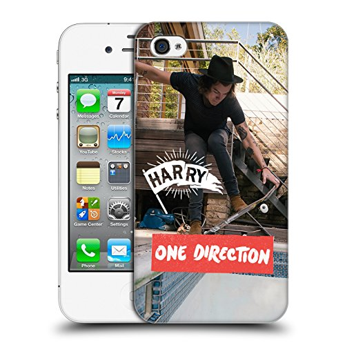 Offizielle One Direction Shirt Weiss Foto Harry Styles Ruckseite Hülle für Apple iPhone 6 / 6s Skating