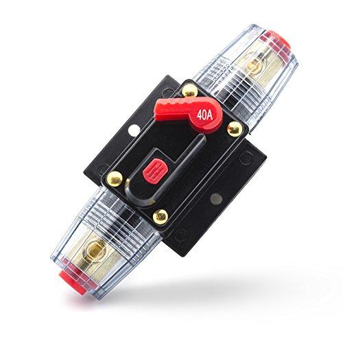 Adapter Universe, fusibile automatico 40 A-100 A, interruttore automatico, 12 V/24 V, protezione dagli spruzzi d'acqua per auto, barca, moto ecc.