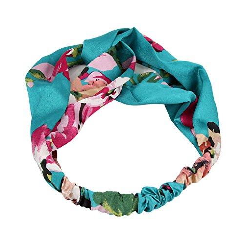 ränkt Frauen Gilr-Blumendruck-Stirnband Headwrap Satin Haarband Kopfbedeckung Schöne Haar-Band-Krawatte (Blume Gilr Kleider)