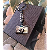 Handmade Camera Silver Plated Keyring/bag Charm. Dad Father Gift. Photographer. Can be personalised. Gift Packaged.