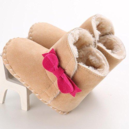 Hunpta Babyschuhe Mädchen Jungen Lauflernschuhe Baby Schneestiefel halten warme weiche Sohle weiche Krippe Schuhe Kleinkind Stiefel (12, Khaki) Khaki