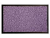 Schmutzfangmatte Türvorleger BRASIL Sauberlaufmatte - 0,60m x 0,90m, Lila, Fußmatte Rutschfest, Waschbar, für Innen und Außen Geeignet