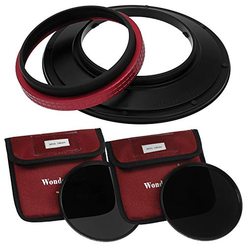 WonderPana 145 Neutral Density Kit - 145mm Filter Holder, Lens Cap, ND16 and ND32 Filters for the Sigma 12-24mm f/4.5-5.6 EX DG ASP HSM II Wide-Angle Zoom Lens (Full Frame 35mm)