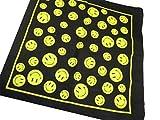 bandana-schal Smiley glückliches Gesicht Kostüm 100% Baumwolle 55 cm quadratisch