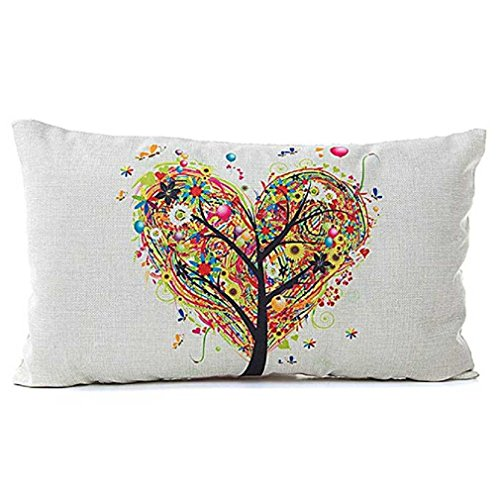 Federe cuscini,fittingran liquidazione lino cuscino federa rettangolare moda classica divano sedile cuscino decorativo tiro copertura caso cuscino (a)