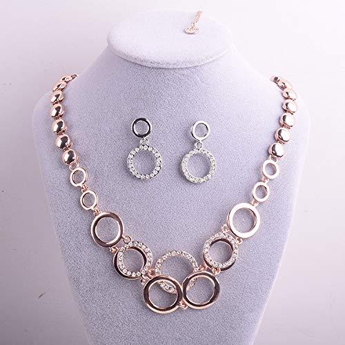 508db6b55c52 NECCLECS Collar You ZUN Artículo Joyas Pendientes De Collar De Cristal  Exquisitos Colgantes De Dos Piezas