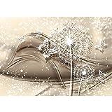 Vlies Fototapete PREMIUM PLUS Wand Foto Tapete Wand Bild Vliestapete - Abstrakt Kunst Schmetterling Pusteblume Punkte Blumen Blüten - no. 2163, Größe:416x254cm Vlies