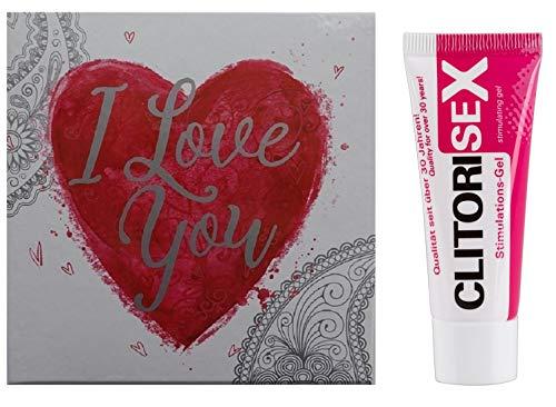 Orgasmus Klitoris-Gel, Stimulations-Creme (25 ml.) Aphrodisiakum durchblutungsfördernd stimulierend Schamlippen,Sex für Frauen mit Geschenke-Box erotische Geschenke-Ideen für Valentinstag
