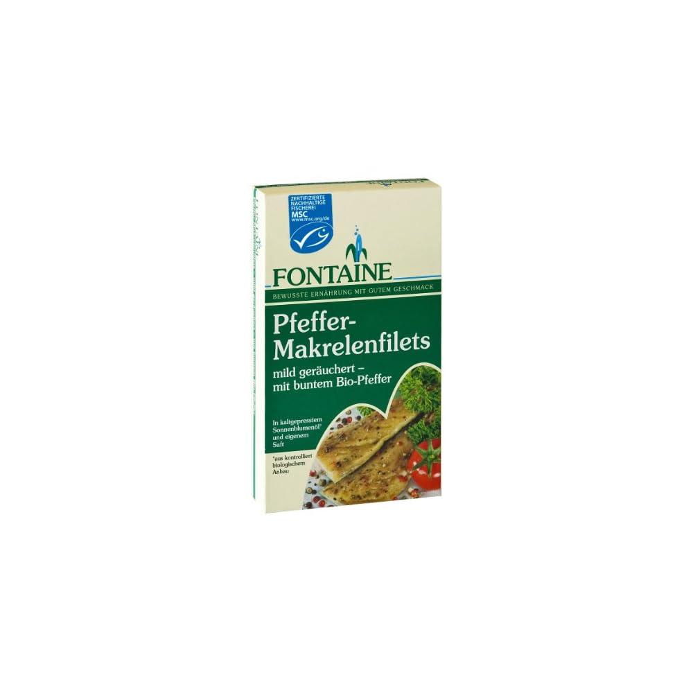 Fontaine Pfeffer Makrelenfilets In Bio Sonnenblumenl 190g Fischkonserve 3er Pack 3 X 190 G