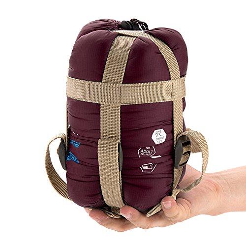 YAAGLE Super leicht Briefumschlag Schlafsack Klimaanlage-Deckbett Schlafsack wie Baumwolle Trekking Schlafsack kleine Größe-rot