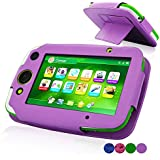 LeapFrog LeapPad Platinum Case, ACdream LeapFrog Leap Pad Platinum Tablet Leather Case Multi Function Cover With Stand (only Fit 2015 Release LeapPad Platinum Tablet) , Purple