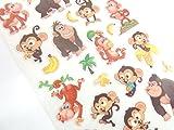 Monkey & Banana Aufkleber Kids/Kinder, die Etiketten für Party Taschen, Scrapbooking, Karte machen oder Notebook Dekoration