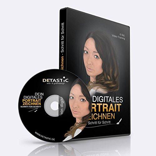 Dein digitales Portrait zeichnen lernen - Schritt für Schritt Video Training, DVD Tutorial: Gesichter zeichnen lernen - Video-portrait