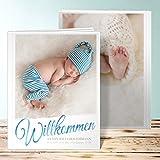 Baby Fotoalbum, Kleiner Sonnenschein 28 Seiten, Hardcover 234x296 mm personalisierbar, Blau
