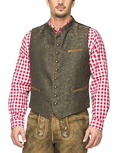 Stockerpoint Herren Trachtenstrickjacke Weste Paolo, Braun (Braun), Large (Herstellergröße: 52)