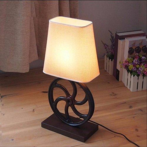 CJSHV-Tischlampe Die Amerikanische Country - Style - Restaurant Kaffee Tischwäsche Bedlamp Ländlichen Wind Ausrüstung (Tischwäsche Silber)