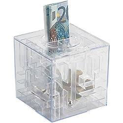 infactory Sparschwein: Spardose mit 3D-Kugel-Labyrinth (Spielzeug Spardose)