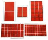 Doppelseitige Klebe-Flächen – Doppelseitiges Klebeband Quadrat - EXTRA STARK Sticky Tape - 1mm Acryl Klebeschicht – Wiederlösbar TRANSPARENT für Bau – 30x30 40x40 50x50 20x20 100x100 (40x 50x50mm)