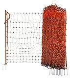 KERBL Filet Électrifiable Double Pointe pour Élevage Volaille Orange 50 m x 112 cm