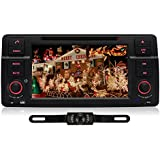 PUMPKIN 1 Din Autoradio Moniceiver Naviceiver DVD Player 7 Zoll für BMW mit Touchscreen Unterstützt GPS Navigation Bluetooth iPod mit Rückfahrkamera