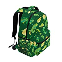 FAJRO Frogs And Reptiles Travel backpack Handbag School pack