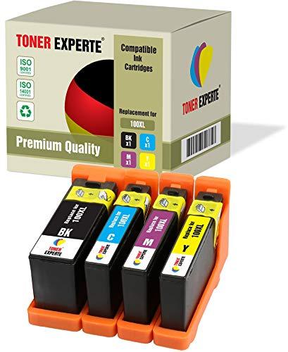 4 XL TONER EXPERTE® 100XL 100 XL Druckerpatronen kompatibel für Lexmark S300 S305 S402 S405 S505 S602 S605 S608 S815 S816 Pro 202 205 208 209 705 805 901 905 (Schwarz, Cyan, Magenta, Gelb) -