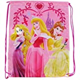 Disney String Backpack Drawstring - Princess (Rapunzel, Sleeping Beauty & Belle)
