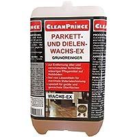 2 Liter / 2000 ml Wachs-Ex Wachsex für Parkett und Dielen Cleanprince Wachsentferner Schichten Schichtenlöser Schichtenentferner flüssig Wachsreiniger Wachs-Reiniger Cleaner Entferner Grundreiniger, zur Entfernung alter und verschmutzter Schichten wässriger Pflegemittel auf Holzböden, frei von Lösemitteln für maximale Materialschonung, speziell für geölte und gewachste Oberflächen, Grundreinigung, Bauabschlussreinigung, Parkett, Parkettboden, Parkettböden, Dielenböden, Dielenboden, Korkboden, Korkböden, speziell einsetzbar zur Entfernung alter und unansehnlicher Pflegeschichten auf geölten, versiegelten und gewachsten Oberflächen, hervorragend geeignet für empfindliche Beläge wie Linoleum oder Gummi