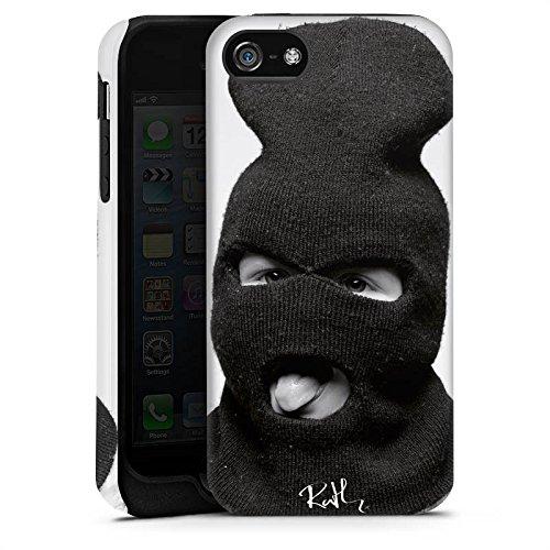 Apple iPhone 4 Housse Étui Silicone Coque Protection Oliver Rath Masque Hipster Cas Tough terne