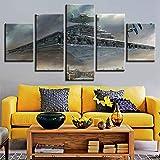 Drucke Auf Leinwand 3D Moderne Star Wars 5 Panels Wand Kunst Gemälde Dekorationen Nein Gerahmt,B,30X40x2+30X60x2+30X80x1