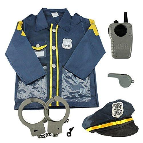 infantil juego de Rol Disfraz Set inclinada Fingir Disfraz Halloween y Assessories, 3-7 AÑOS - policía, One Size