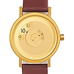 Projects Uhr (Will-Harris) - Reveal Stahl IP Messing - Leder (40mm) Unisex